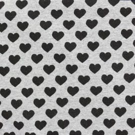 Petits motifs light sweat fabric - heart x 10cm