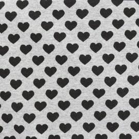 Tissu sweat léger Petits motifs - coeur x 10cm