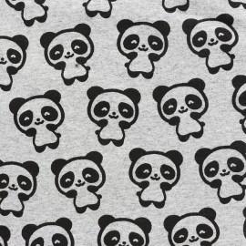 Petits motifs light sweat fabric - panda x 10cm