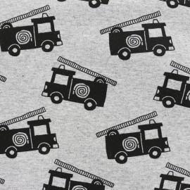 Tissu sweat léger Petits motifs - camion de pompier x 10cm