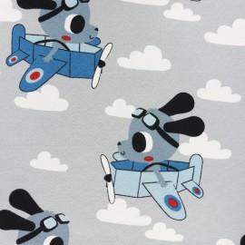 Tissu jersey In the air - gris x 20cm