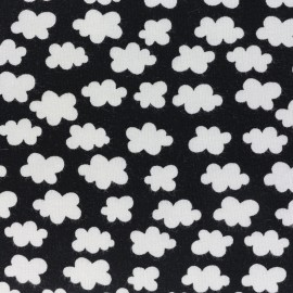 Clouds above us Jersey fabric - black x 10cm
