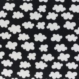 Tissu jersey Clouds above us - noir x 10cm