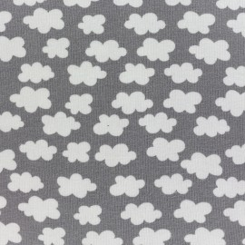 Clouds above us Jersey fabric - gray anthracite x 10cm