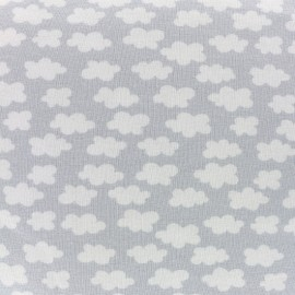 Clouds above us Jersey fabric - light gray x 10cm