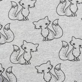 Petits motifs light sweat fabric - fox x 10cm