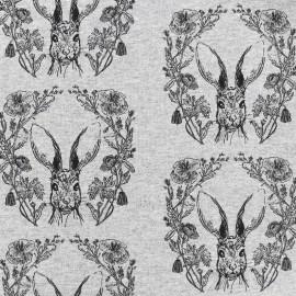 Petits motifs light sweat fabric - rabbit x 10cm