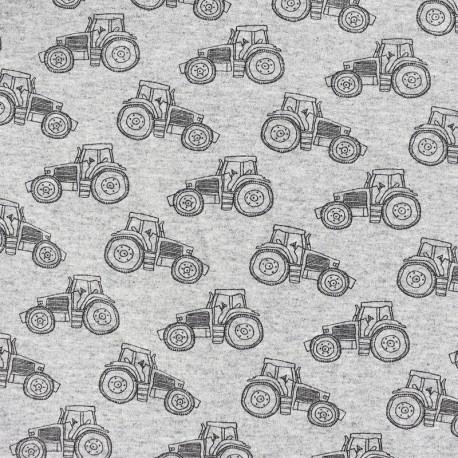 Coton-Jersey Jersey T-Shirt-Enfants Tissu tracteur paillette tissu tracteur