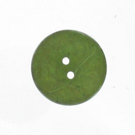Coconut button - green