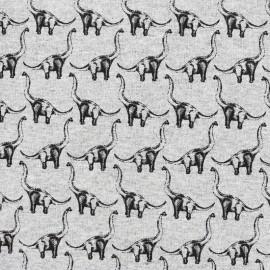 Tissu sweat léger Petits motifs - dinosaure x 10cm