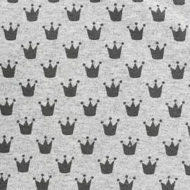 Petits motifs light sweat fabric - crown x 10cm