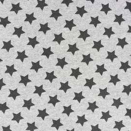Tissu sweat léger Petits motifs - étoile A x 10cm