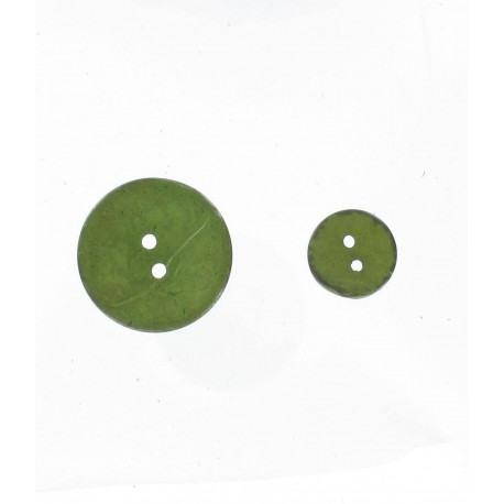 Bouton coco vert