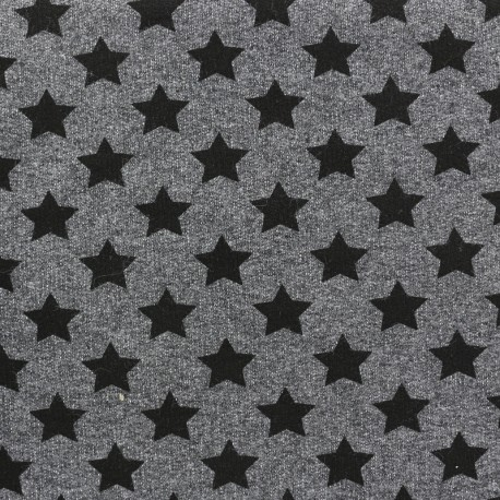 Petits motifs light sweat fabric - star C x 10cm