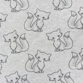 Tissu sweat léger Petits motifs - renard B x 10cm