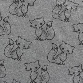 Tissu sweat léger Petits motifs - renard C x 10cm