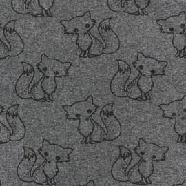 Petits motifs light sweat fabric - fox D x 10cm