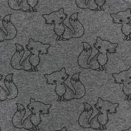 Tissu sweat léger Petits motifs - renard D x 10cm