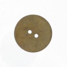 Coconut button - light brown