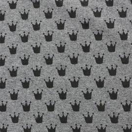 Tissu sweat léger Petits motifs - couronne C x 10cm