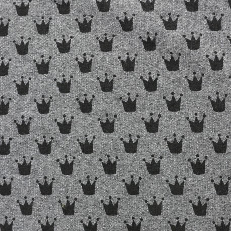 Petits motifs light sweat fabric - crown C x 10cm