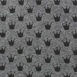 Petits motifs light sweat fabric - crown D x 10cm