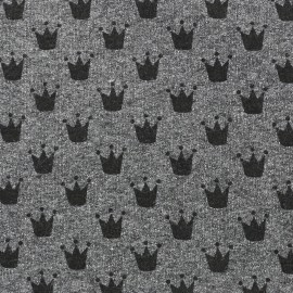 Tissu sweat léger Petits motifs - couronne D x 10cm