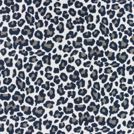 Leopard jersey fabric - pale pink x 10cm