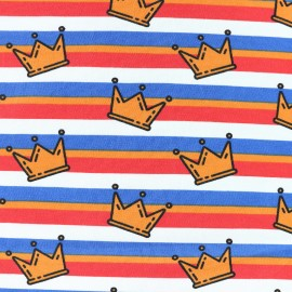 King of Stripes Jersey fabric - crown x 10cm