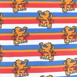 King of Stripes Jersey fabric - lion x 10cm