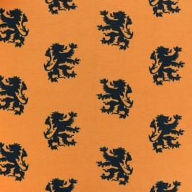 King of Stripes Jersey fabric - lion orange x 10cm
