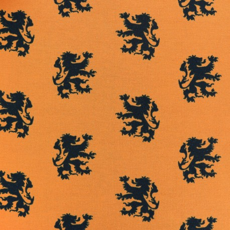 King of Stripes Jersey fabric - lion orange x 10cm