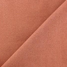 Jersey tubulaire bord-côte Paillette légère Oeko-tex  - rouille/bronze x 10cm