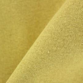 Jersey tubulaire bord-côte Paillette légère Oeko-tex  - jaune / or x 10cm