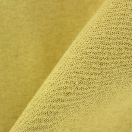 Jersey tubulaire bord-côte Paillette légère - jaune / or x 10cm
