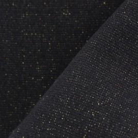 Jersey tubulaire bord-côte Paillette légère - noir/or x 10cm