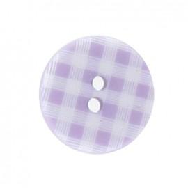 Button, gingham - mauve