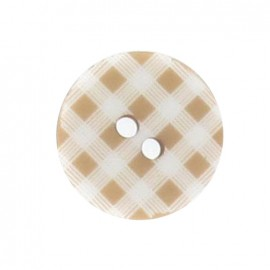Button, gingham - beige