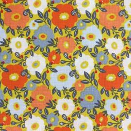 Cretonne cotton Fabric Camille - yellow x 10cm
