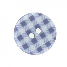 Button, gingham - purple