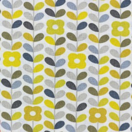 Cretonne cotton Fabric Petula - yellow x 10cm