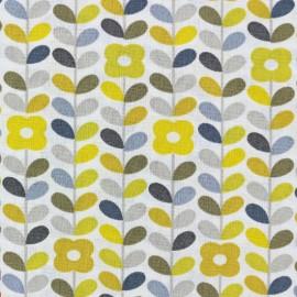Tissu coton cretonne Petula - jaune x 10cm