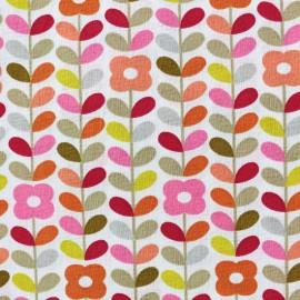 Tissu coton cretonne Petula - rose x 10cm
