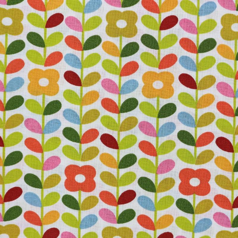 Tissu coton cretonne petula multi x 10cm - Edmond petit tissus d ameublement ...