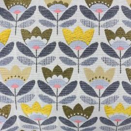 Tissu toile jacquard Pernille - jaune x 10cm
