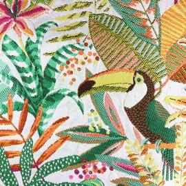Tissu toile jacquard Sumatra - multicolore/blanc x 55cm