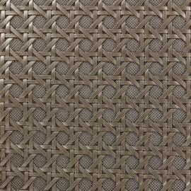 Troquet faux leather - metal x 10cm