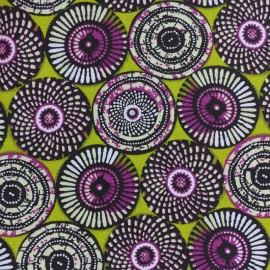 Cretonne cotton Fabric Soweto - green x 10cm