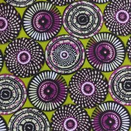 Tissu coton cretonne Soweto - vert x 10cm