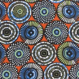 Tissu coton cretonne Soweto - rouge x 10cm